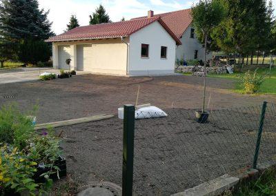 Anlage von Pflanzflächen vorher
