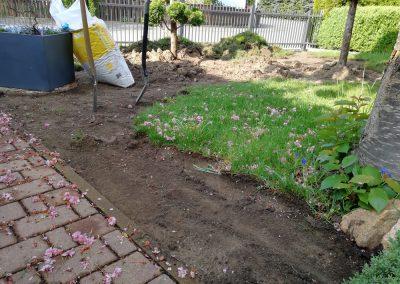 Neugestaltung eines Vorgartens vorher